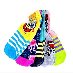 🆕 Nickelodeon Spongebob Patrick Womens Socks